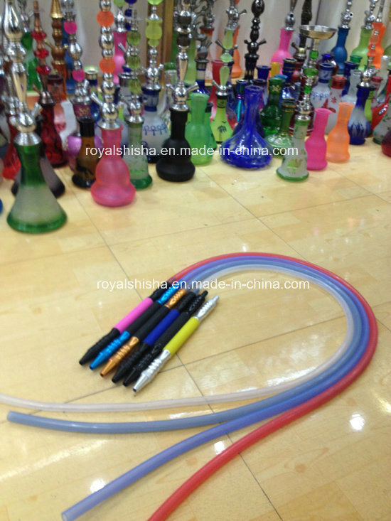Silicone Hookah Hose with Aluminum Tips Silicone Hose Tips