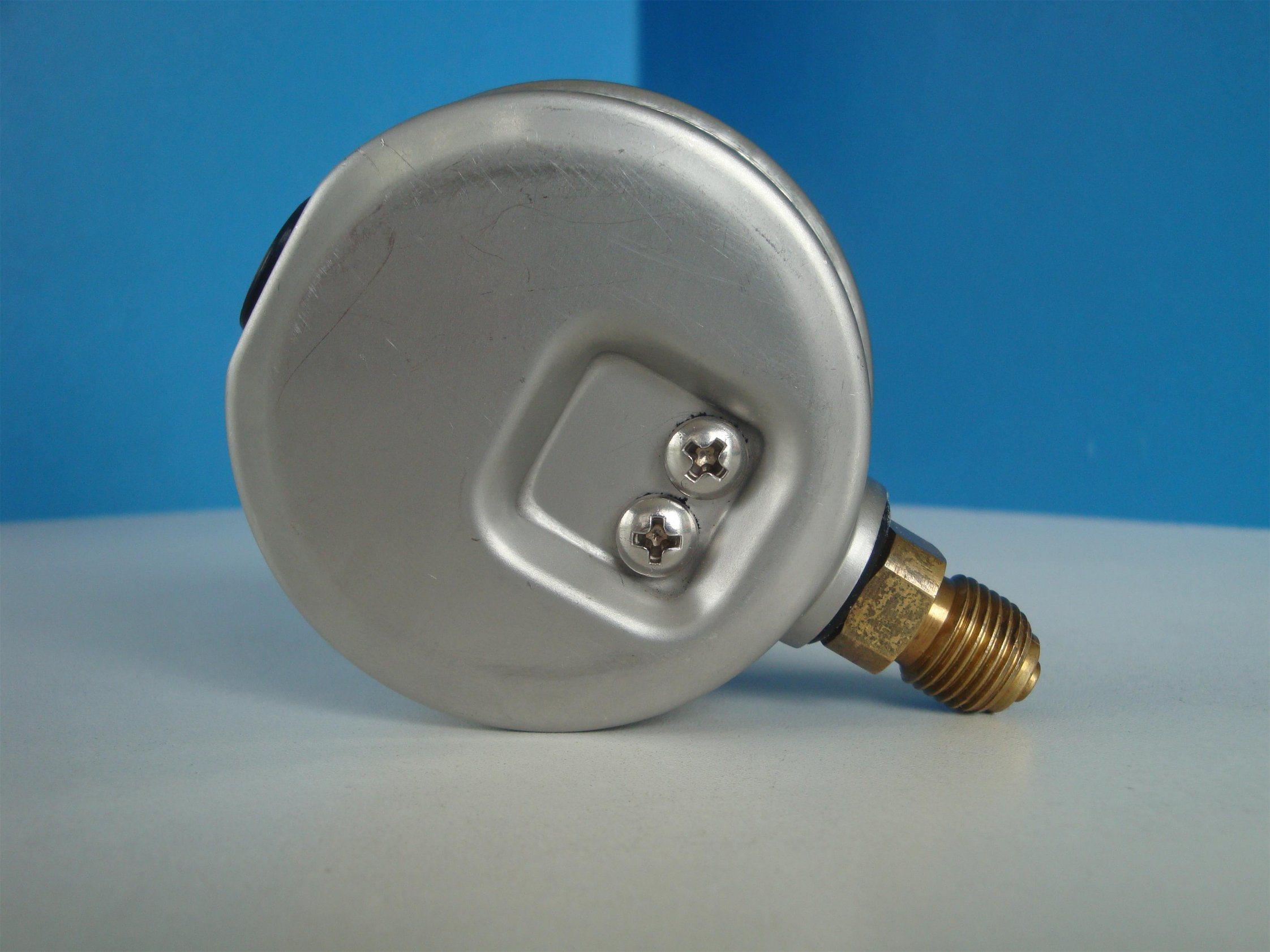 63mm Glycein Oil Pressure Gauge Stainless Steel Case Brass Internals