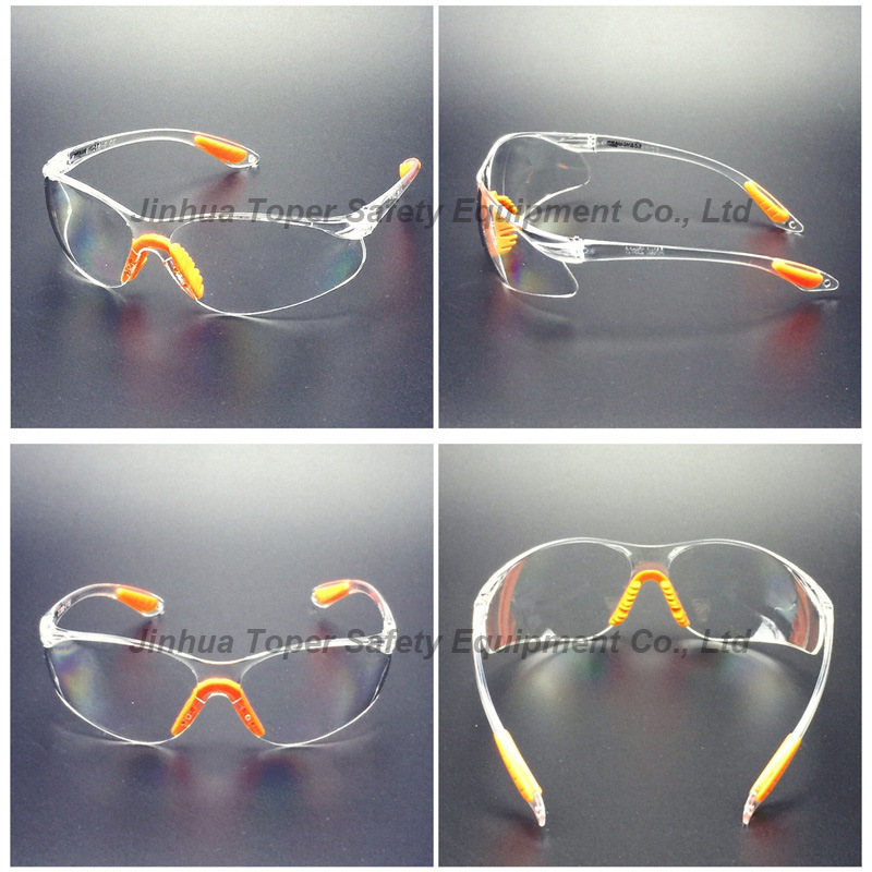 Clear PC Lens Safety Eye Glass with Soft Pad (SG102)