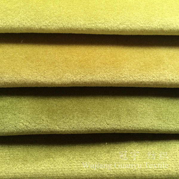 Home Textile Velour Glossy Fabric for Sofa