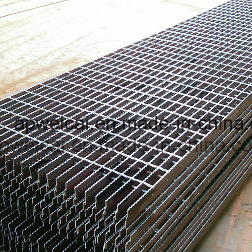 Plain or Serrated Hot DIP Galvanized, Stair Treads, Bar Grating, Steel Grating