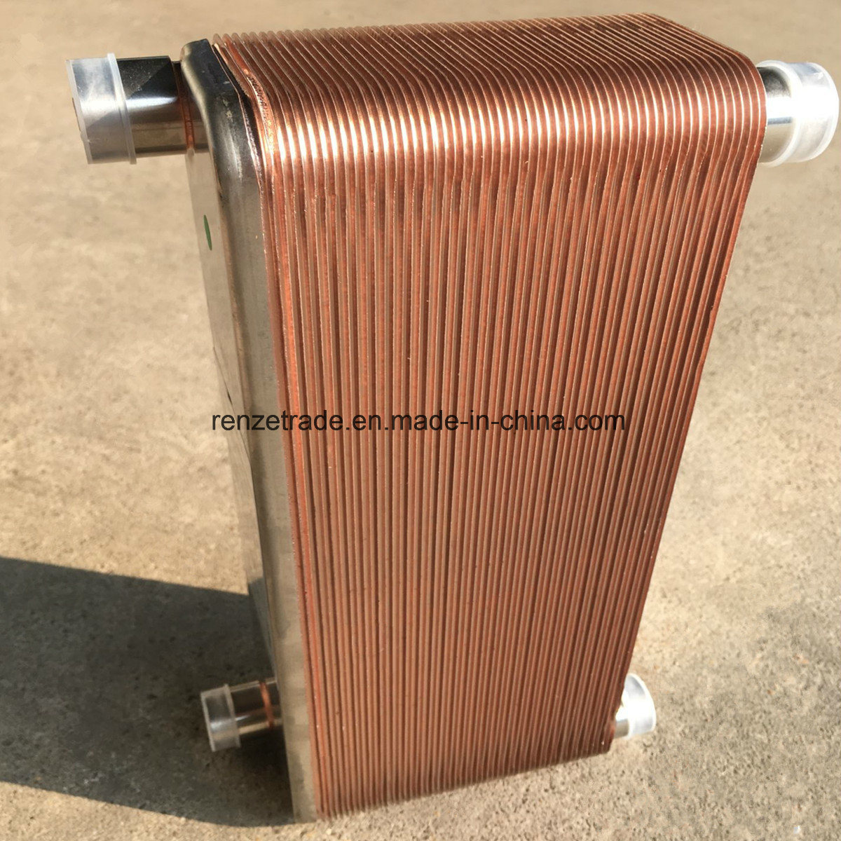 Refrigerant R22, R404A, R410A Condenser Central Heating Copper Brazed Plate Heat Exchanger