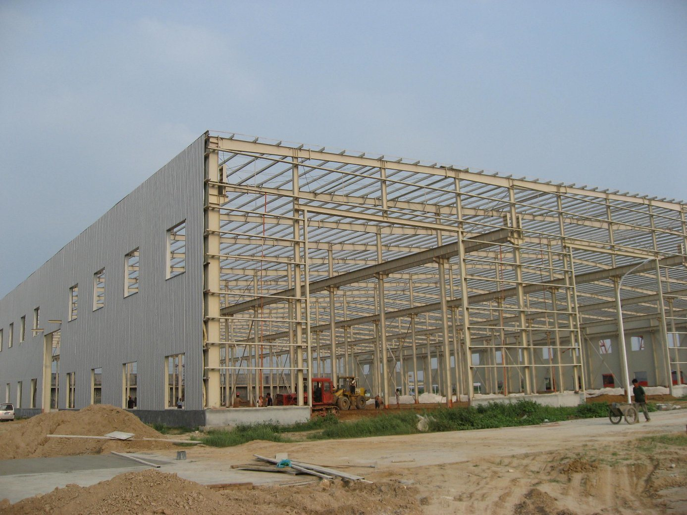 Light Steel Structure Warehouse with 10 Ton Crane