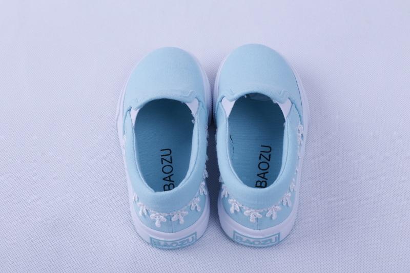 Kids Vulcanzied Shoe Rubber Outsole Canvas Shoes Bz1614