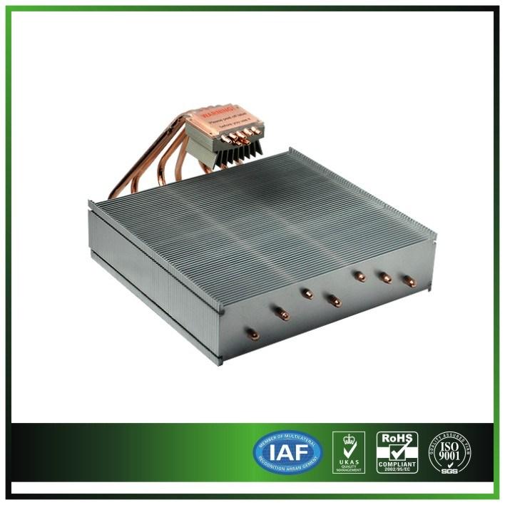 Aluminum Electronics Heat Sink with 7PCS Heatpipe