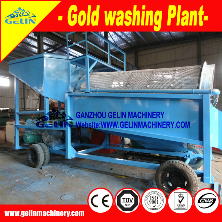 Mobile Gold Trommel Screen Washing Plant