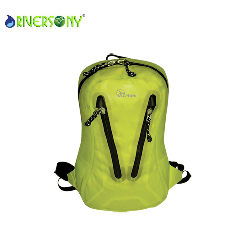 Green Nylon PU Waterproof Backpack Bags
