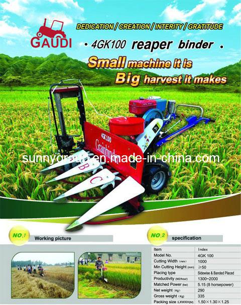Self-Binder Walking Rice & Wheat Reaper (4G100)