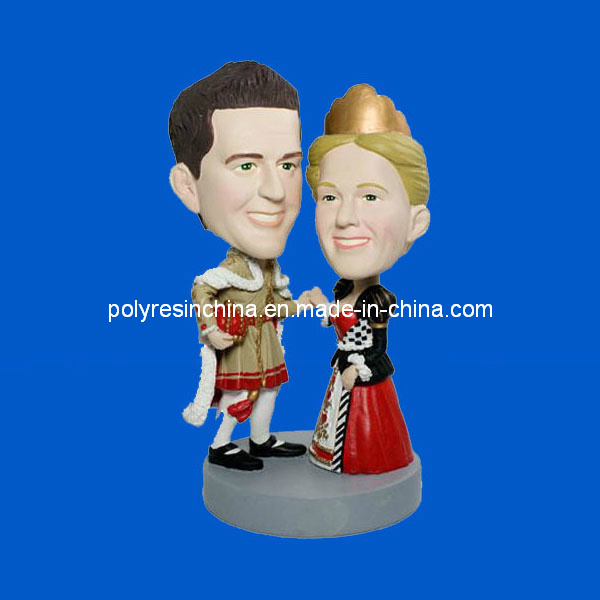 Polyresin Wedding Souvenir Gifts of Couple Bobble Head
