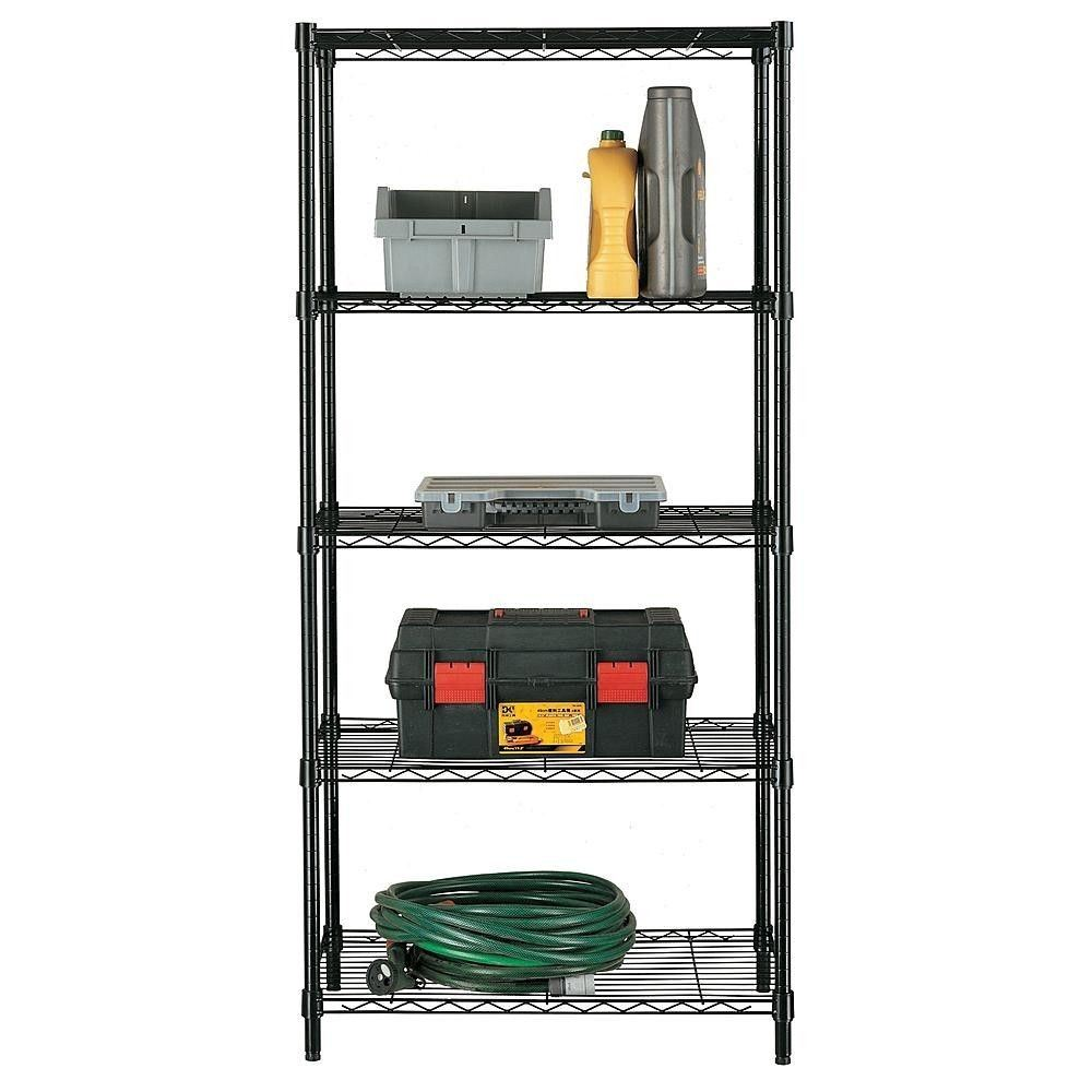 5 Tiers Home Kitchen Garage Office Wire Shelving Storage Rack