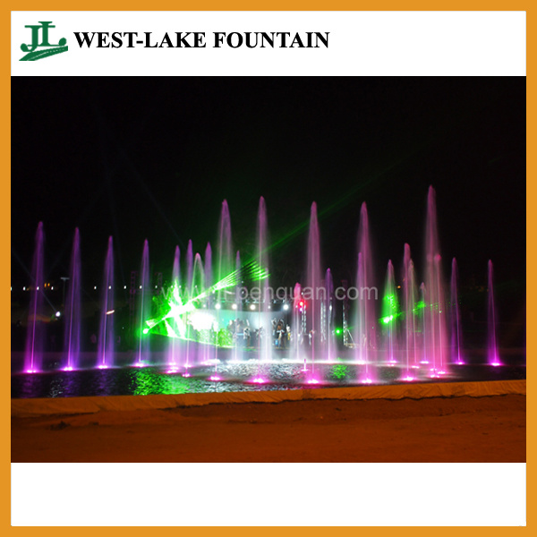Colorful LED Lighting Laser Projection Musical Dancing Fountain in Congo