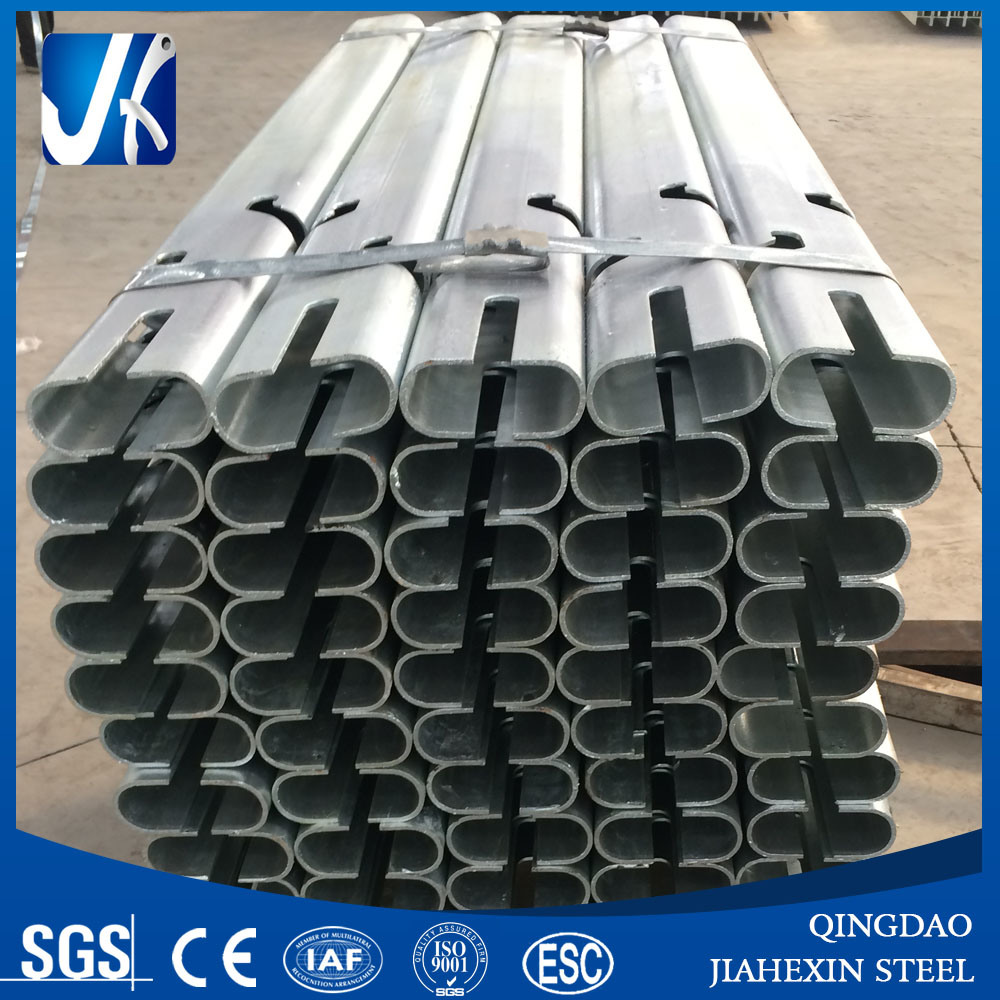 Hot Dipped Galvanized Laser Cut Oval Tube for Highway Fence