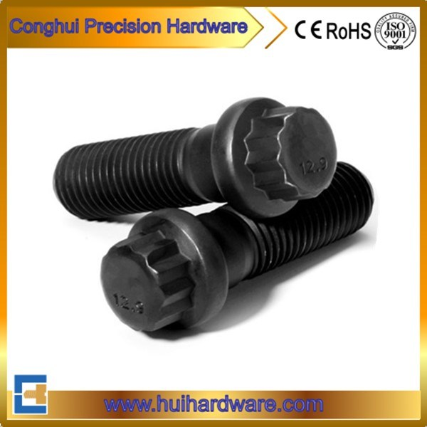 12 Point Carbon Steel 12.9 Hex Flange Bolts