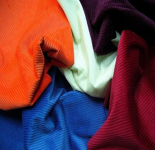 Corduroy Fabric Made of 100% Cotton or 97%Cotton 3%Spandex