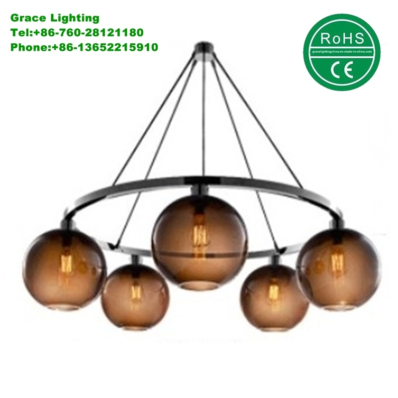 Have Stock Modern Lamp Glass Chandelier (GD-1991-5)