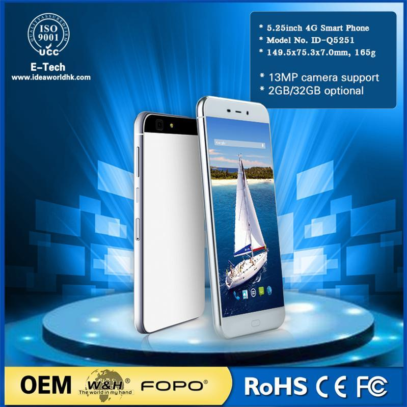 China OEM Lte Android 4G 5.25 Inch Smart Mobile Phone