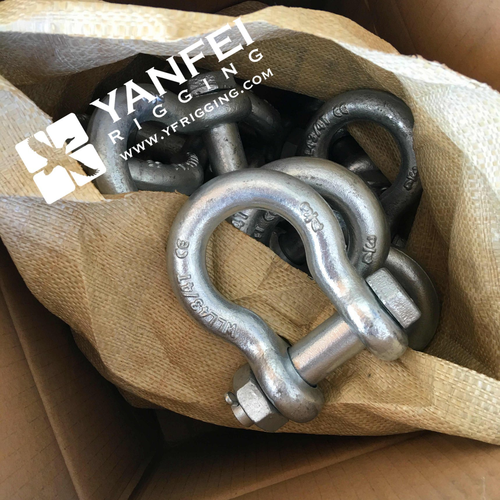 Rigging Hardware Us Type G2130 Bow Shackle with Safety Pin