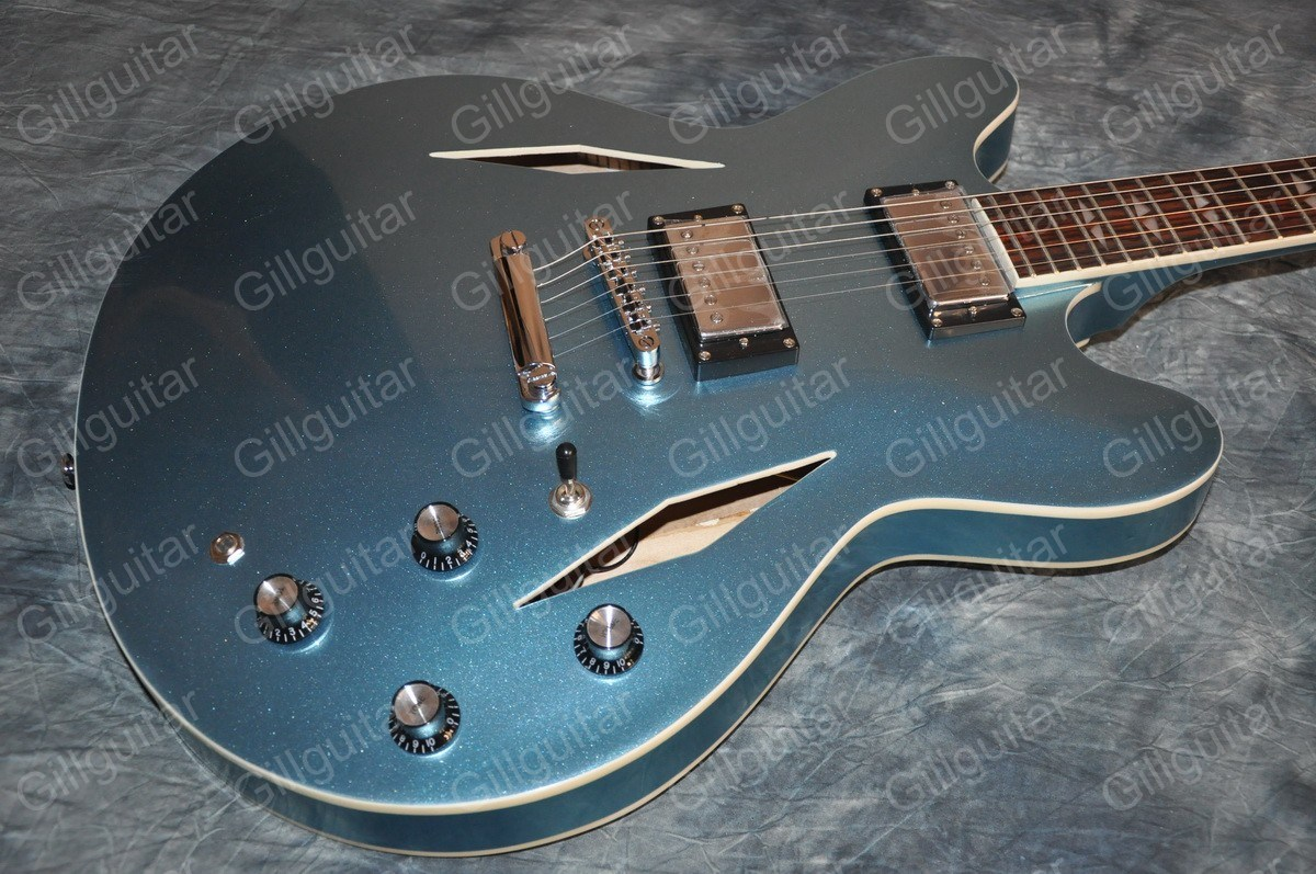 Gillguitar Es-335 / 339 / 330 Semi Hollow Jazz Guitar with Bigsby Memphis