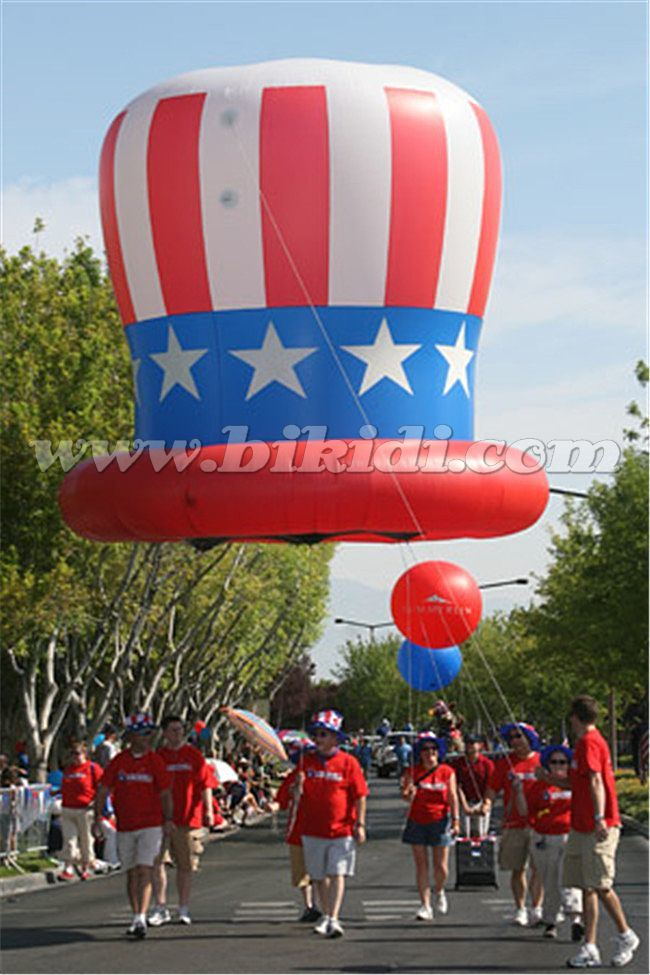 Good Price Advertising Helium Balloon, Inflatable Election Cap with Stars and Stripes K7180