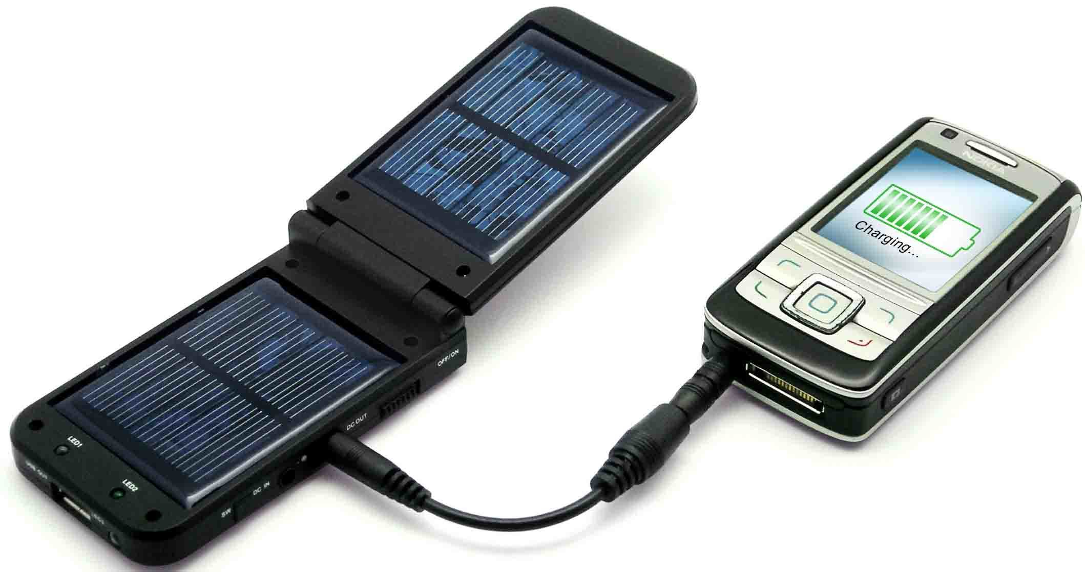 solar charger Solar chargers are primarily used to employ solar energy to charge batteries or supply electricity to devices they are generally portable and can charge lead acid batteries or ni-cd batteries up to 48 v and 4000 mah capacity.