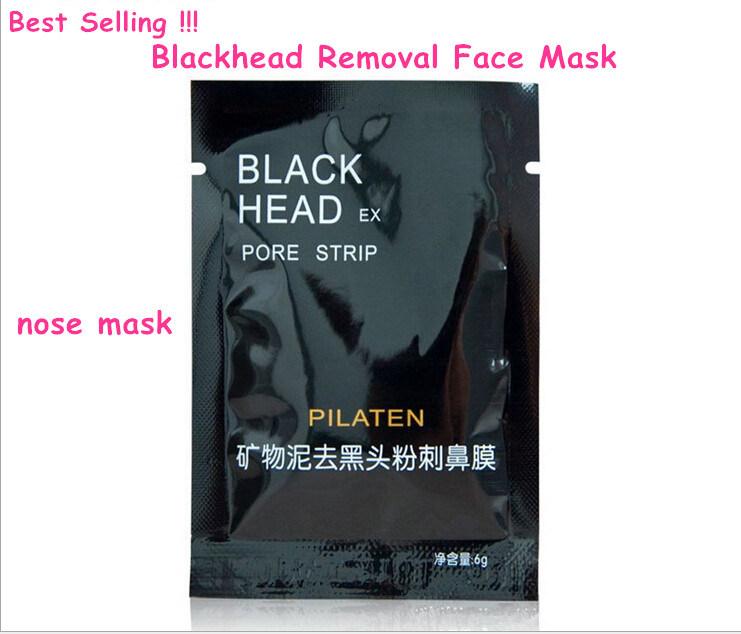 Pilaten Black Head Ex Pore Strip Nose Mask Remove Blackhead Acne Minerals Conk Black Mud Mask Peeling off Nose Mask