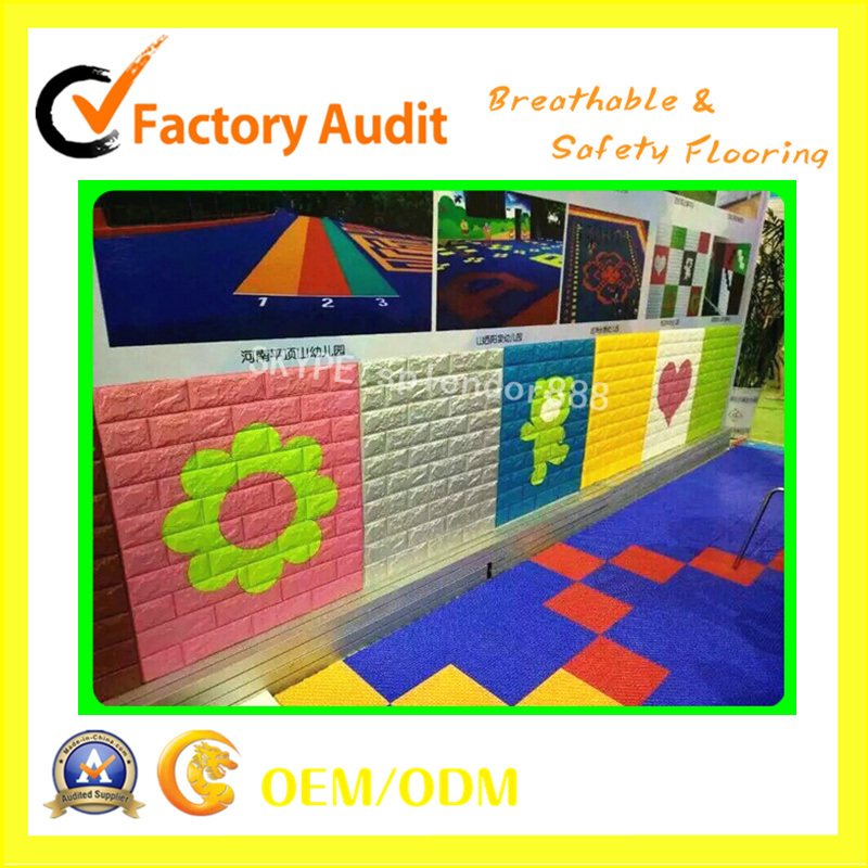 Colorful Safety Children Playground Protect Wall and Soft Flooring
