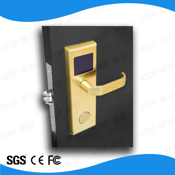 Modern Stainless Steel Golden Mf Card Hotel Mortise Lock in Door Locks (L518-M)