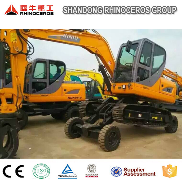 China New Excavator with Wheel and Crawler Excavator Digger X8