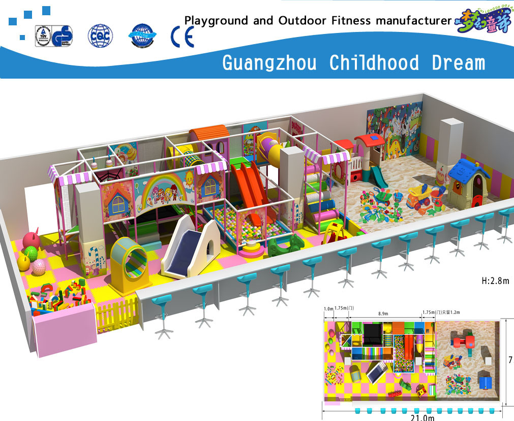 Large Indoor Playground Soft Playground Set on Promotion (H14-Ca905)