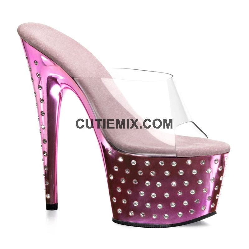 2012 Rhinestone Woman Sandal Pink Shoes (S777-RO