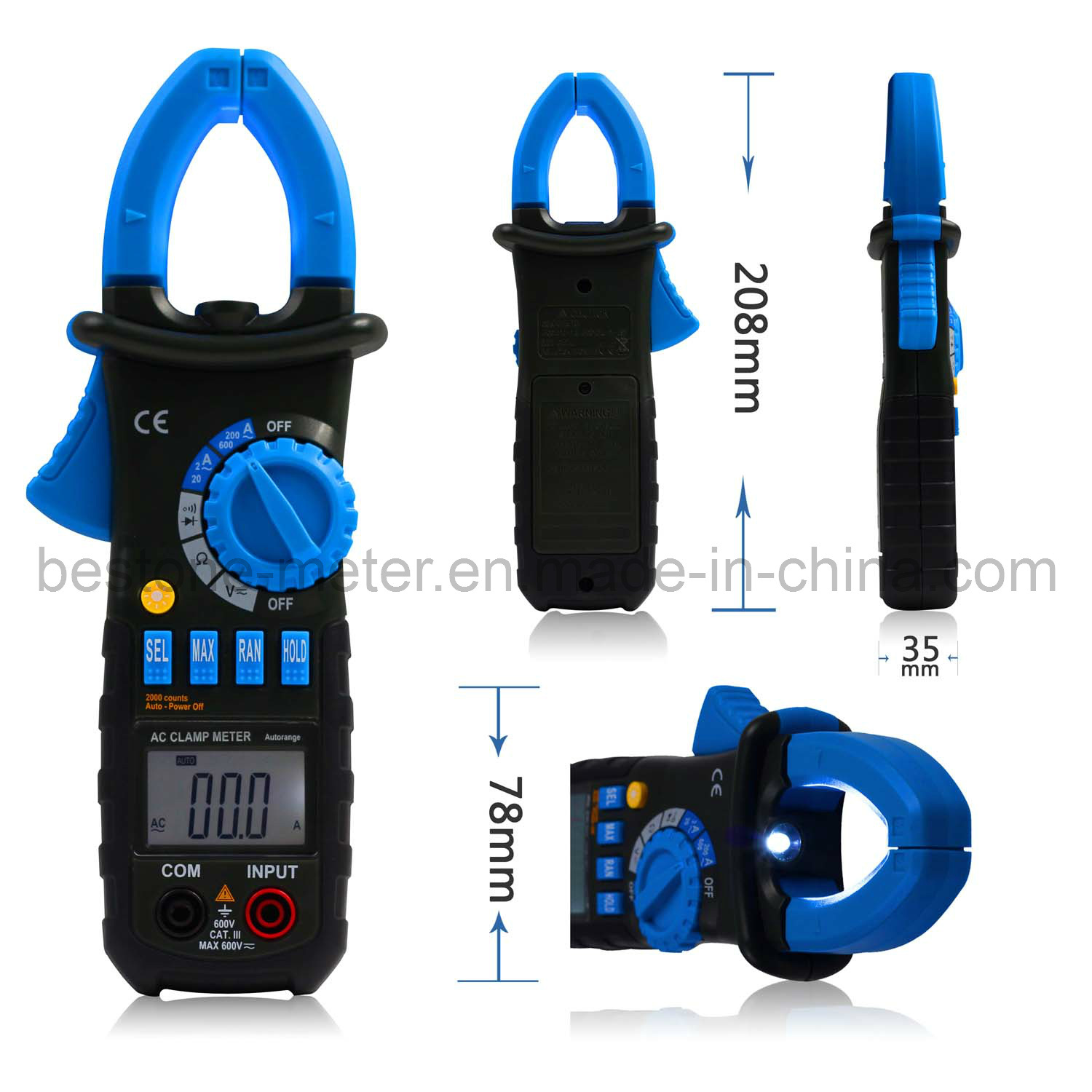 AC Mini Digital Clamp Meter (ACM01)