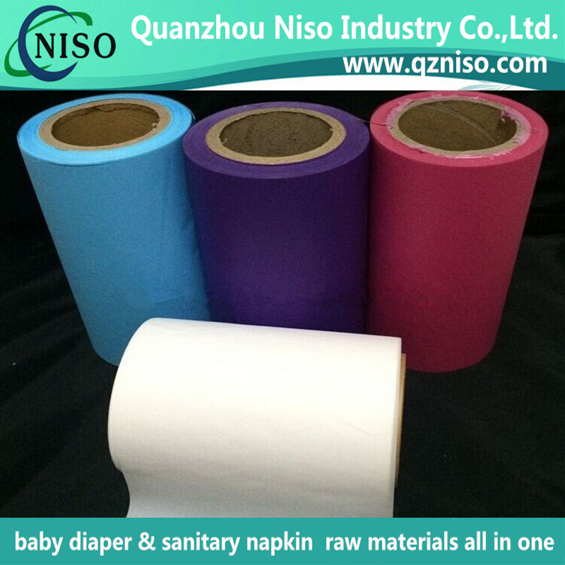 Breathable White PE Backsheet Film for Sanitary Napkin with Ls-Pbf0812
