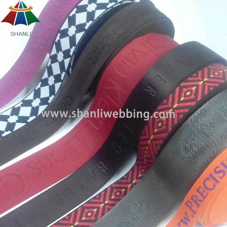 Eco-Friendly Jacquard Woven Nylon Cotton PP/Polypropylene Polyester Webbing