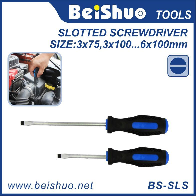 Standard Fluted Cabinet Slotted Tip Screwdriver, Household Handtools