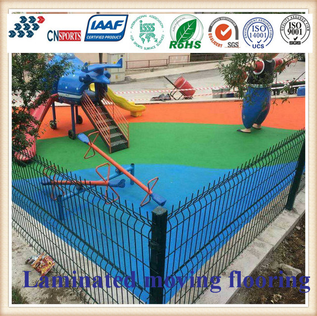 Cn-S06 EPDM Rubber Granules Flooring for Kids Playground