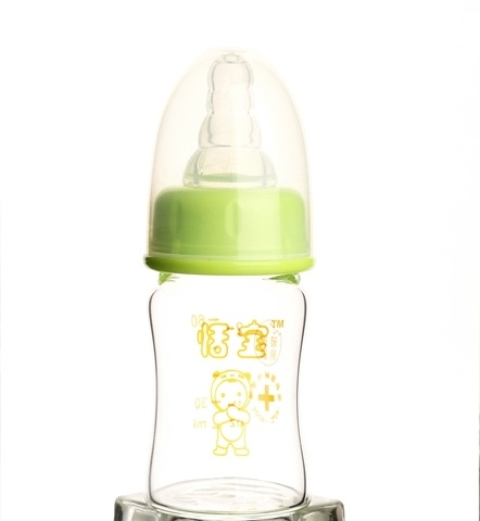 60ml Crystal Diamond Glass Baby Feeding Bottle