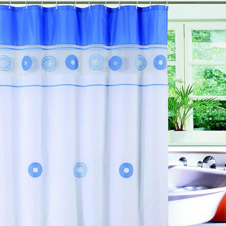 Hotel Bath Shower Curtain Bamboo Print Curtains