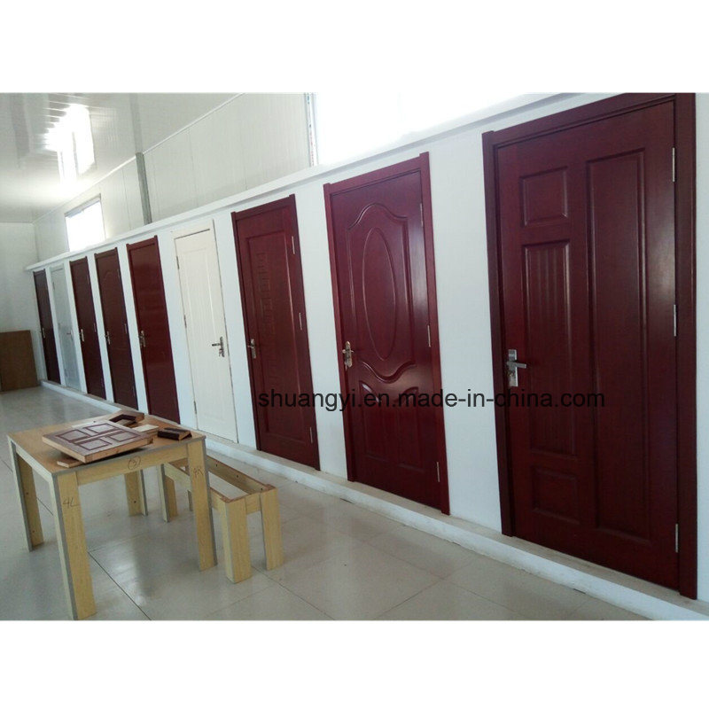 Wooden Interior Fir Panel Laminated Doors with Frames