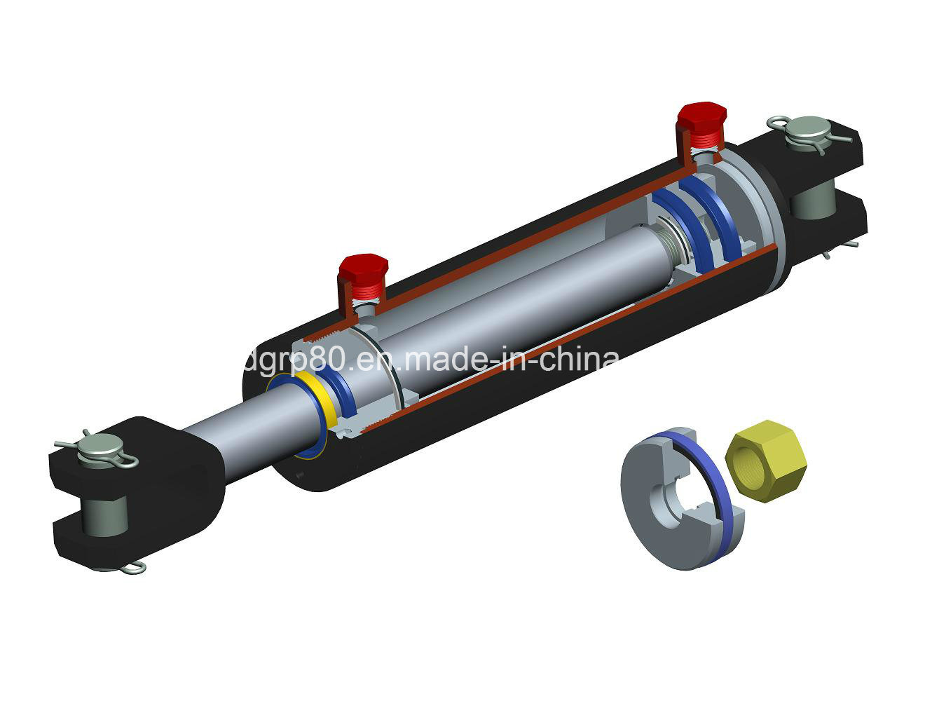 USA Standard 3000psi Welded Hydraulic Cylinder