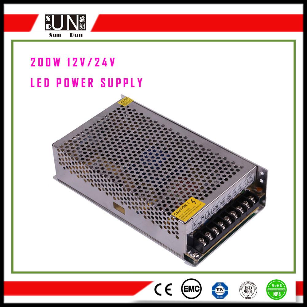200W Power Supply, DC12V DC24V DC48V DC5V Switching Power Supply, 200W LED Driver