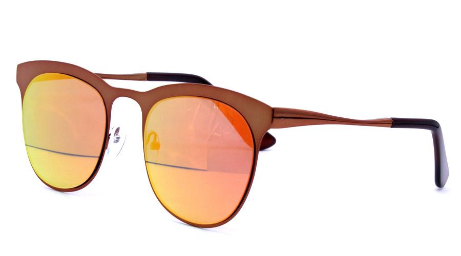 Latest Metal Sunglasses Wholesale Round Mirror Metal Cat 3 UV400 Sunglasses 2017