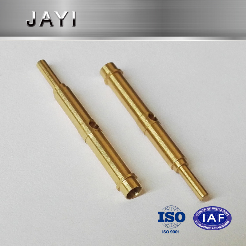 Slender Axle Made of Copper, Inernal Hole, CNC Machining Parts