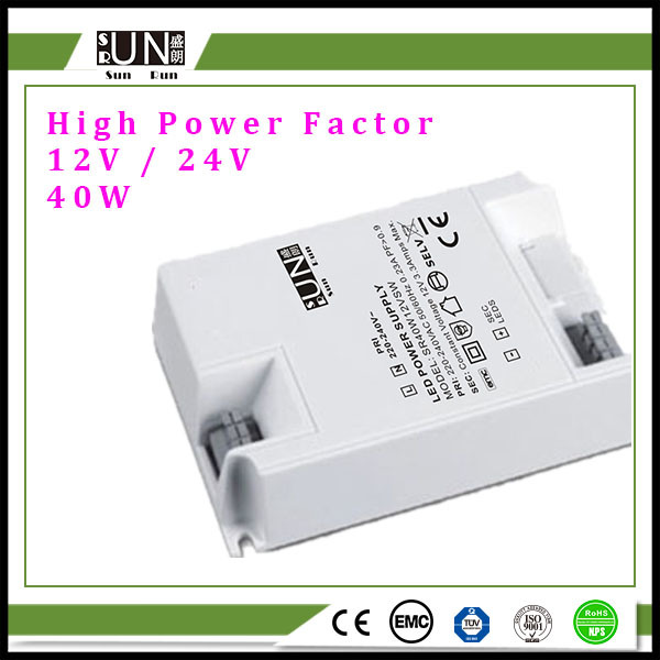 40W 12V Ce, IEC, RoHS LED Power Supply, with High Power Factor, LED Strip Power Supply, LED Transformer, 40W Power Supply, 36W LED Driver