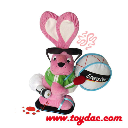 Energizer Promotion Plush Toys Beat Drum Rabbit
