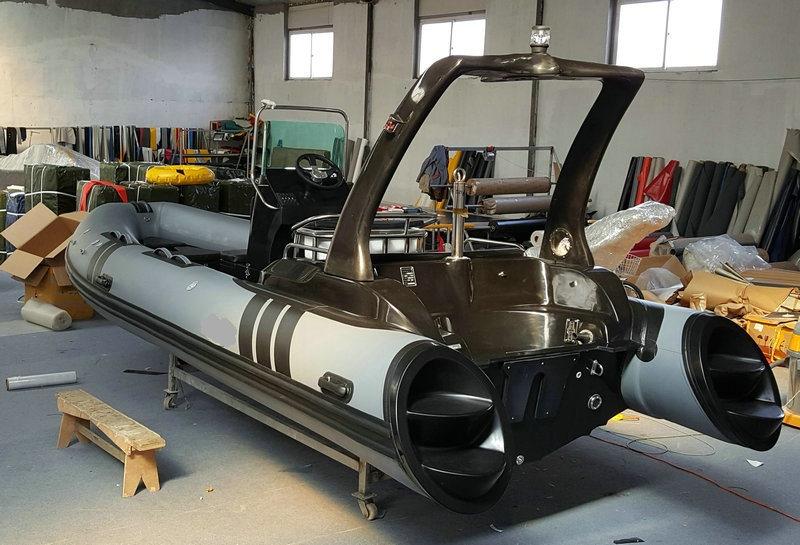 Rib580b Inflatable Boat Fishing Boat Hypalon or PVC Tube Fiberglass Hull