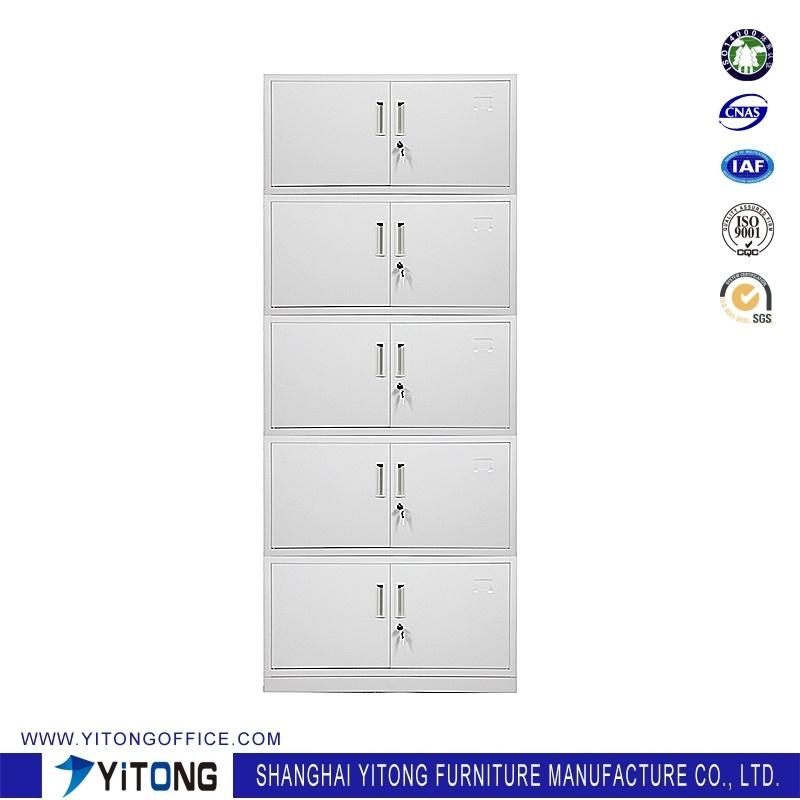 10-Door Metal Storage Cabinet / Office Use Steel File Cabinet