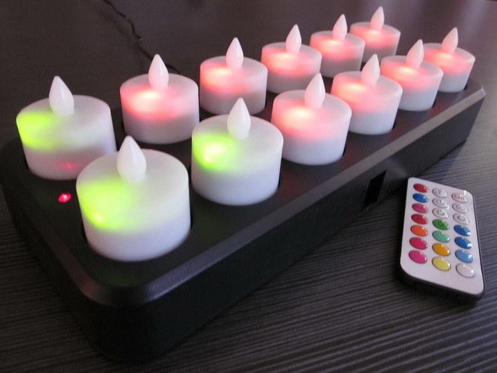 bougie t l commande rechargeable inductive de led bougie t l commande rechargeable. Black Bedroom Furniture Sets. Home Design Ideas