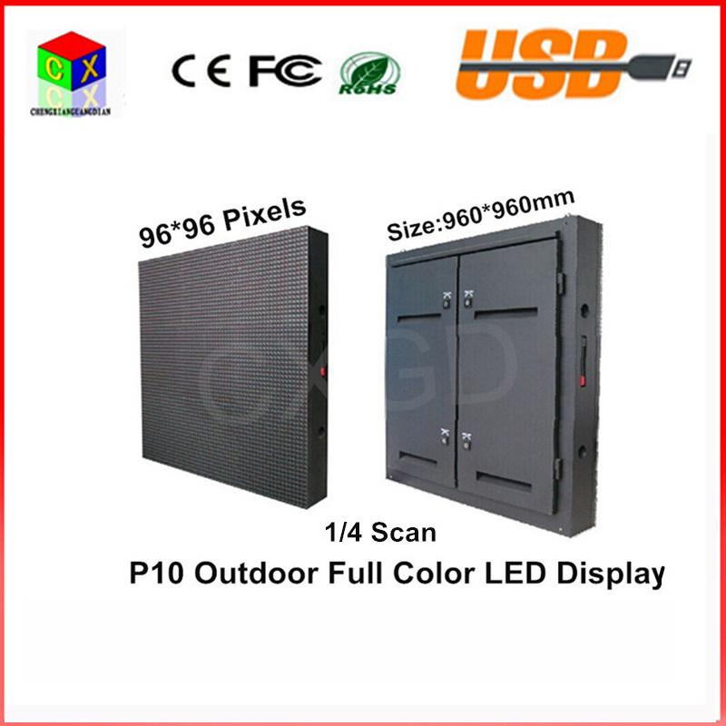LED Video Wall 960*960mm Waterproof Cabinet RGB DIP Full Color P10 LED Display Screen Waterproof Outdoor Large Screen
