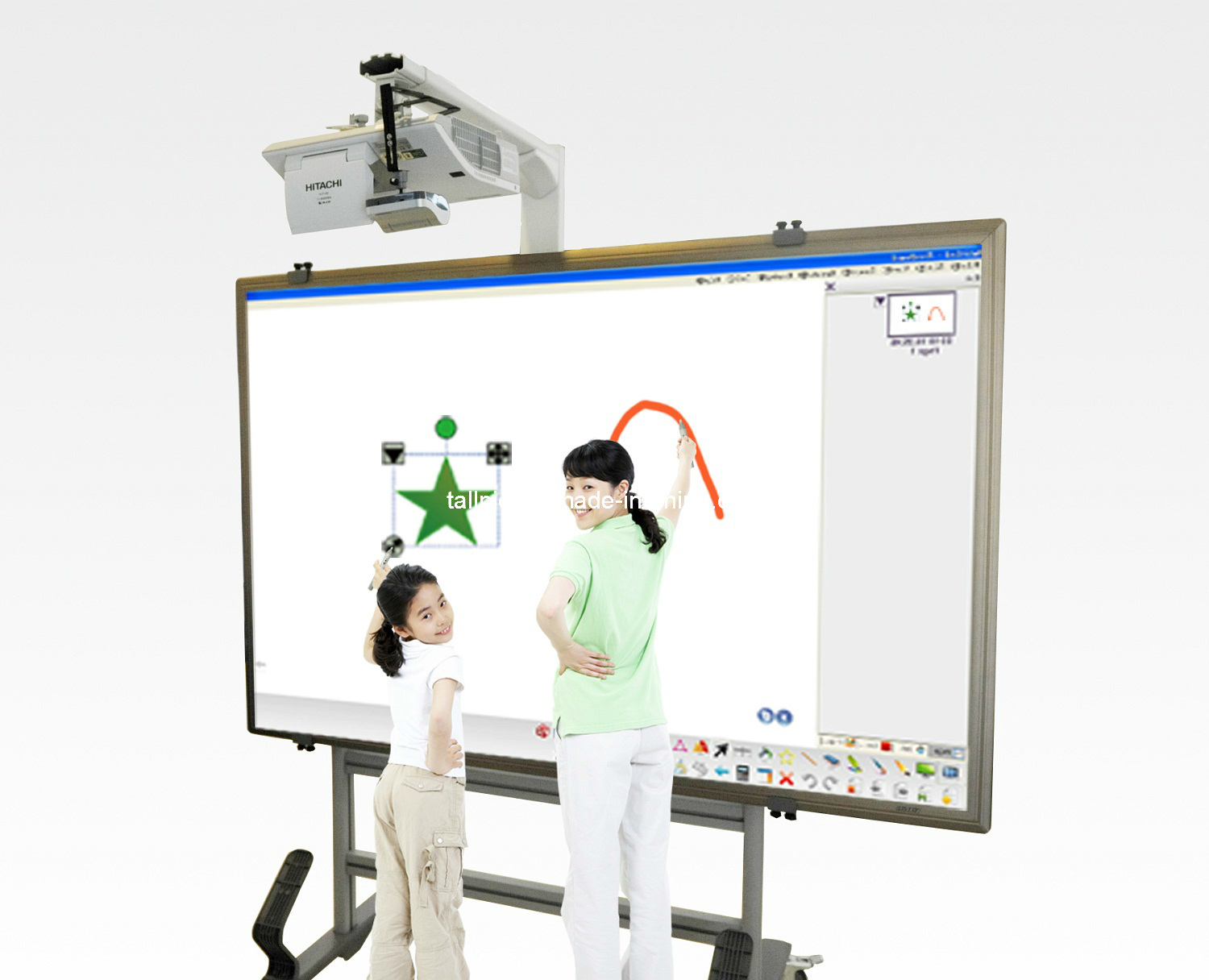Synchronized Interactive Whiteboard System