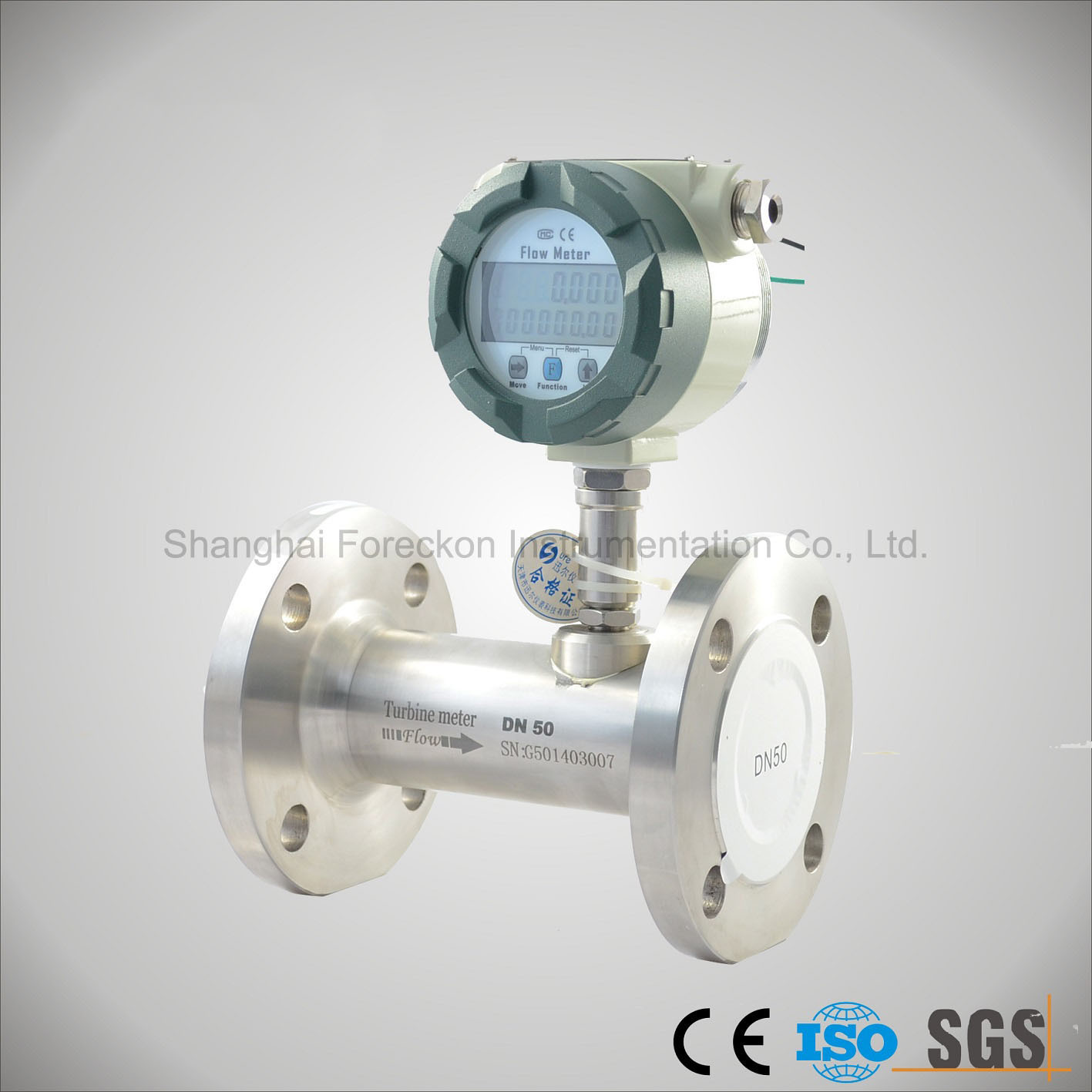 China Low Cost CO2 Gas Turbine Flowmeter for Liquid Oil Diesel